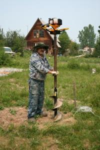 Илфан Юсупов с мотобуром